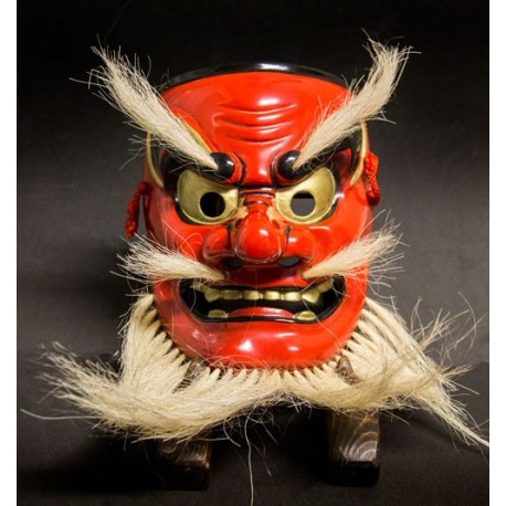 Japanese mask woodcarving Ko tengu