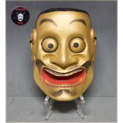 Mascara japonesa de madera Otobide
