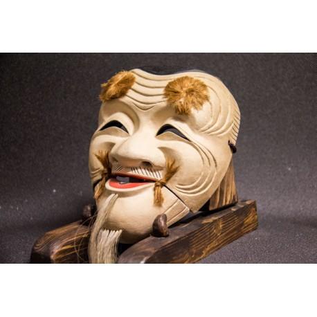 """Okina """"Hakushiki-jo  白 式 尉 """" woodcarving"""