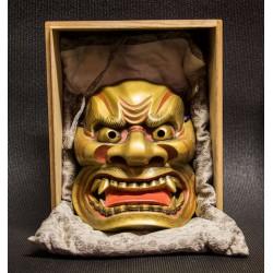 Noh mask Shishiguchi  獅子 口 ( wooden )
