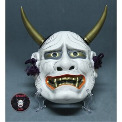 Hannya Japanese mask white