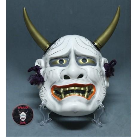 Hannya Japanese mask white